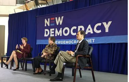 ALG partner, John Anzalone, on the panel of New Democracy's forum in Iowa